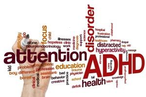 ADHD word cloud concept